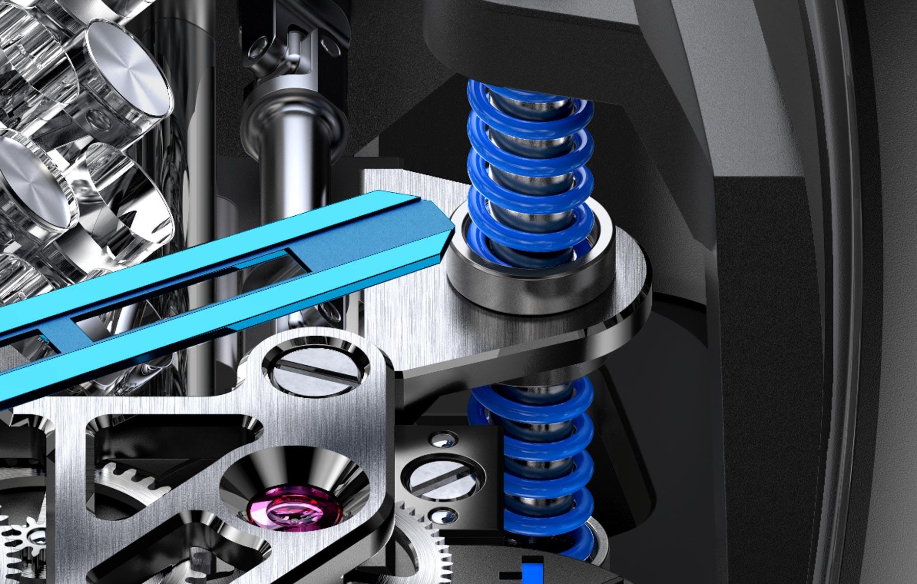 Jacob Co Bugatti Chiron Tourbillon Watch W16 Engine Automaton Cars Automobiles Sapphire Tourbillon Engineering Watchmaking Innovation aBlogtoWatch 12