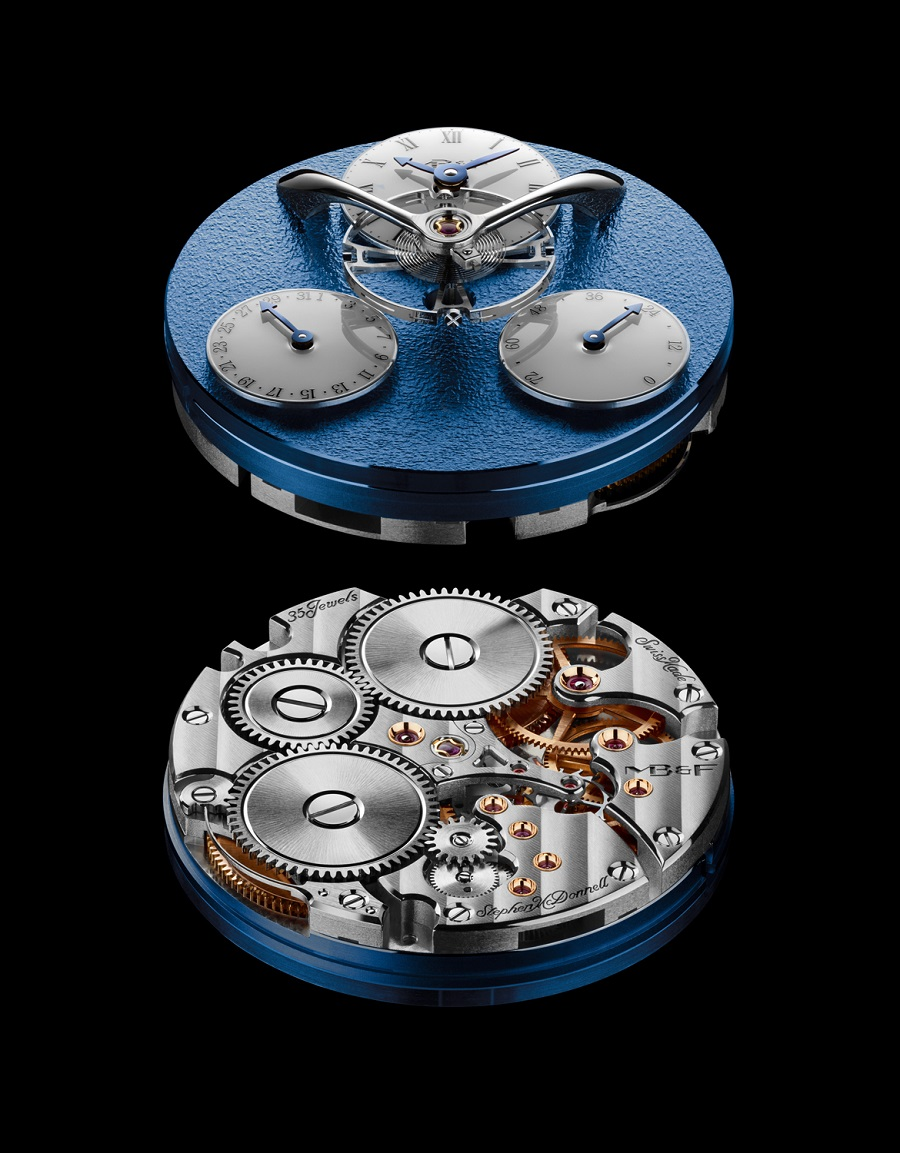 LM Split Escapement Engine WG Blue Lres