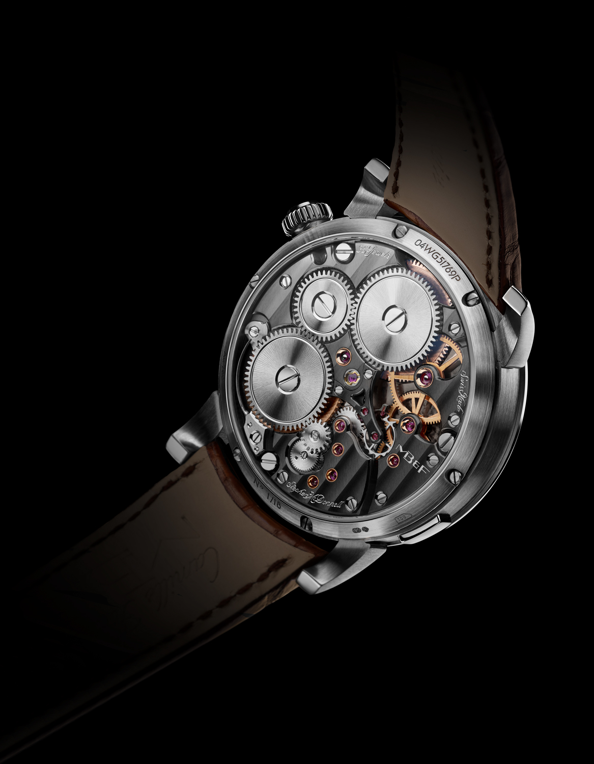 LM Split Escapement WG Ruthenium Back Lres